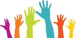 Picture of raised hands